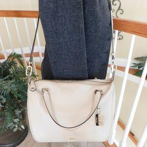 Coach Madison Smythe Soft Ivory Leather Bag 32405